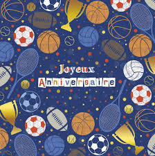 Carte Joyeux Anniversaire Sport Boutique La Fiesta
